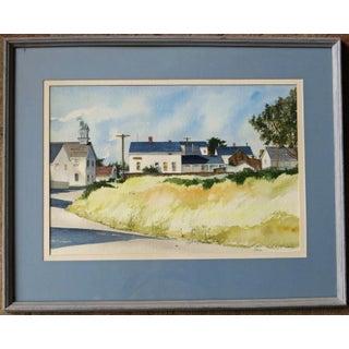 20th Century Realist Judith Biehler Watercolor – Mendocino, California Preview