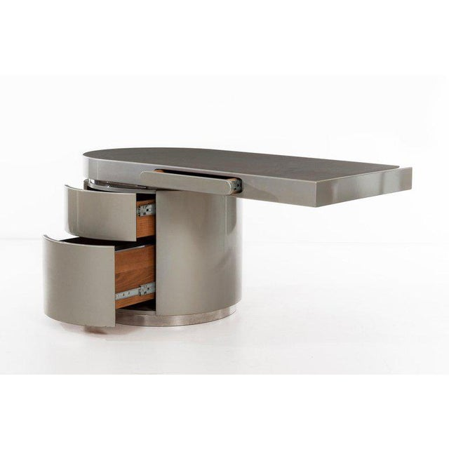 "Chrome J. Wade Beam ""Ponte"" Desk For Sale - Image 7 of 9"