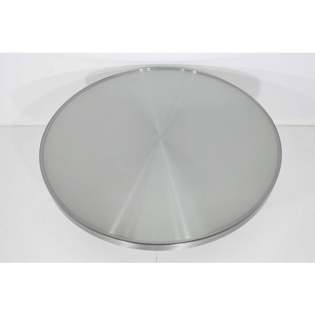 Modern Brueton Brushed Stainless Steel Coffee Table For Sale In Dallas - Image 6 of 9