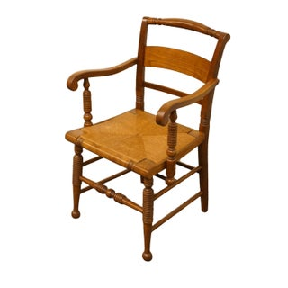 Late 20th Century Vintage Thomasville Furniture Welsh Cherry Collection Dining Arm Chair Preview
