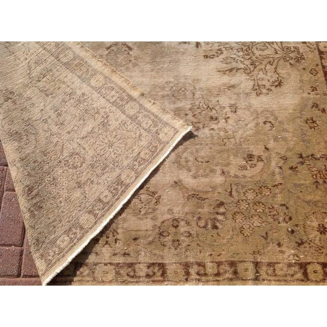 """1930s 1930s Antique Turkish Oushak Rug-6'5'x10'1"""" For Sale - Image 5 of 6"""