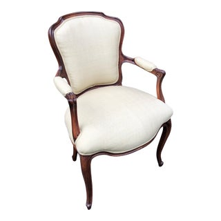 1940s French Louis XV Style Bergere Chair For Sale