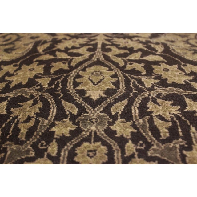 """Transitional Design Heritage Shakira Brown & Green Wool Rug - 12'2"""" x 17' For Sale - Image 3 of 7"""