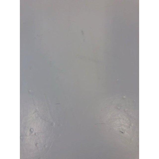 Karl Springer Leather Kidney Shape Side Table by Karl Springer For Sale - Image 4 of 10