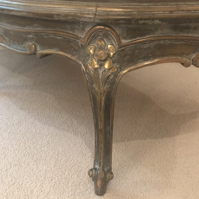 1930s Antique French Louis XVI Carved Chaise Lounge For Sale - Image 11 of 13