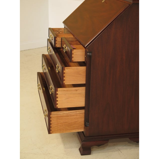 Henkel Harris Chippendale Mahogany Secretary Desk For Sale - Image 9 of 11