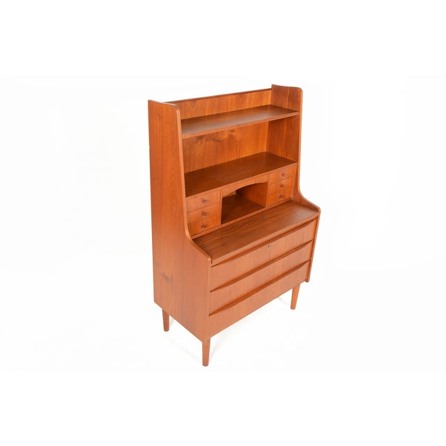 Danish Modern Secretary Bookcase - Image 3 of 10