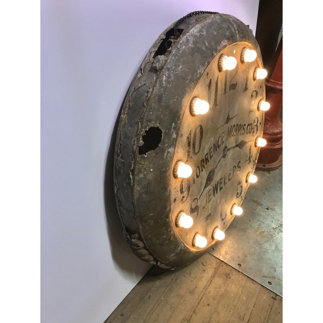 1910s Light Up Double Sided Jewelry/Clock Sign For Sale In Chicago - Image 6 of 8