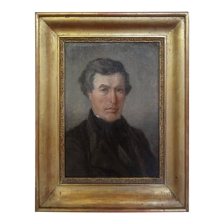 19th Century French Empire Oil on Canvas Portrait of Nobleman For Sale