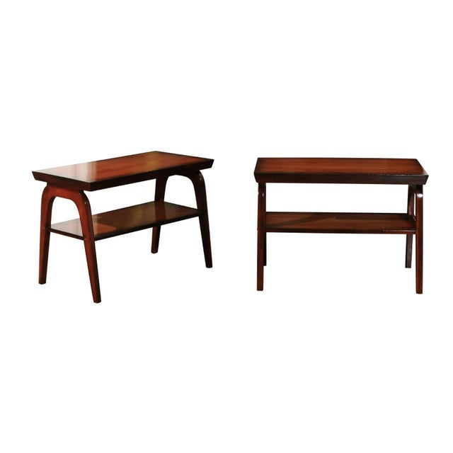 Rare Restored Pair of End Tables by John Wisner for Ficks Reed, Circa 1954 For Sale - Image 13 of 13