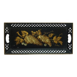 "Vintage - Metal Serving Tray - ""Bunch of Grapes"" by Tim Piana For Sale"