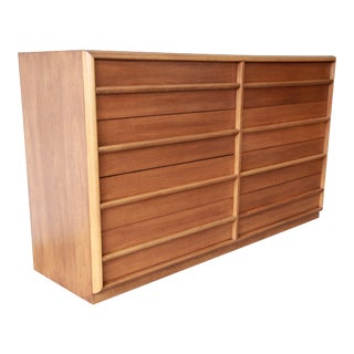 Robsjohn Gibbings for Widdicomb Walnut Double Dresser For Sale
