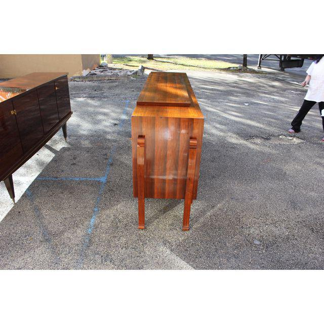 Spectacular French Art Deco Palisander And Sycamore Sideboard / Credenza Circa 1935s For Sale - Image 9 of 11