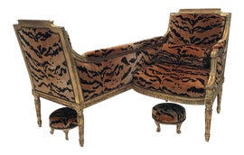 Image of French Chair and Ottoman Sets