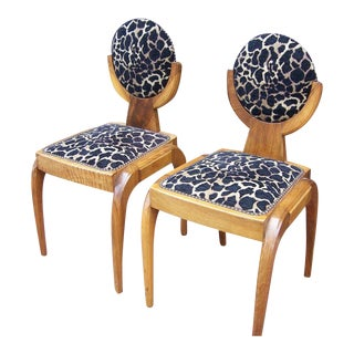 Extraordinary and Rare Austrian Deco Side Chairs