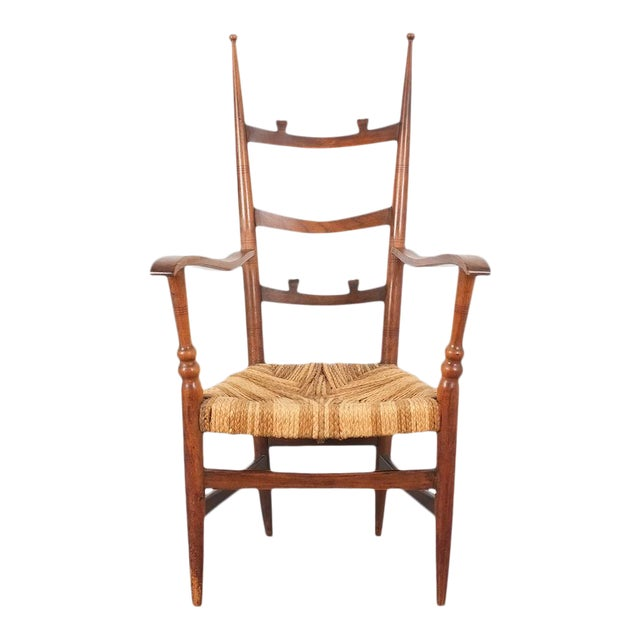 Armchair Attributed to Paolo Buffa, Possible Made by Marelli, Circa 1948 For Sale
