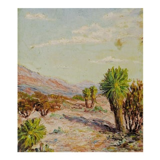 Plein Air Desert Scene Oil Painting For Sale