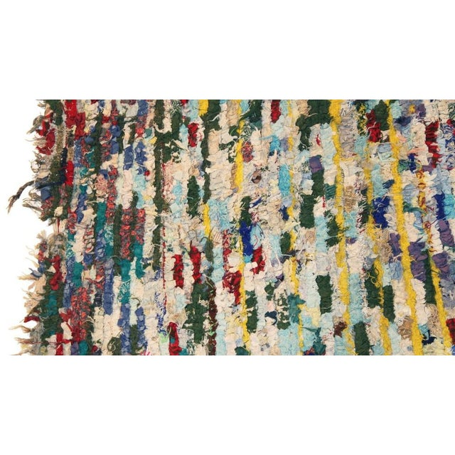 "Vintage Boucherouite Moroccan Carpet - 8'6"" X 4'4"" - Image 2 of 4"