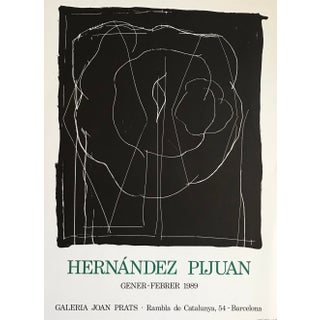 1989 Hernandez Pijuan for Joan Prats Gallery Lithographic Poster For Sale