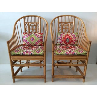 1970s Vintage Natural Rattan Barrel Chairs- A Pair Preview