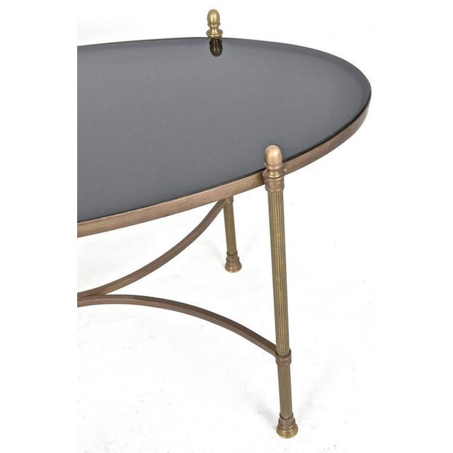 Neoclassical Style Brass and Black Granite Cocktail Table For Sale - Image 4 of 9