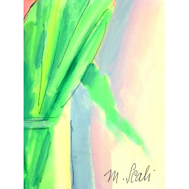 French Watercolor Painting - Tulip, C. 1960 - Image 2 of 4
