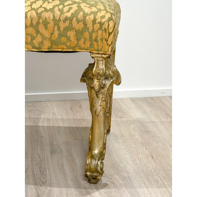 19th Century Italian Silver Gilt Bench For Sale - Image 5 of 7