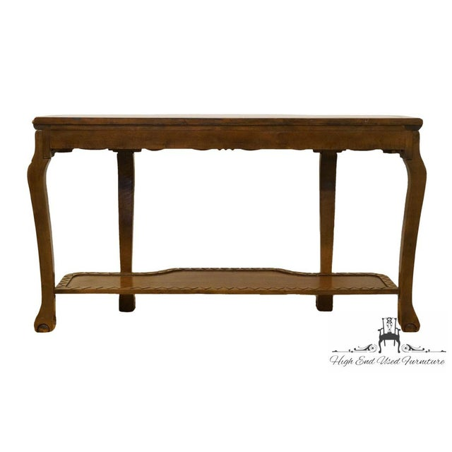 20th century traditional solid cherry ornately carved floral marble brown 20th century traditional solid cherry ornately carved floral marble top sofa table for sale watchthetrailerfo