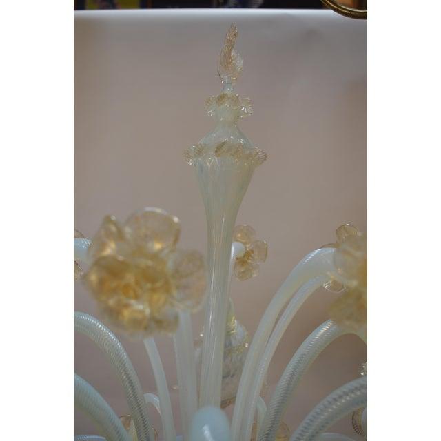 Italian Murano Opaline Glass Floor Lamp For Sale - Image 3 of 10