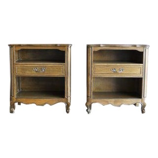 Late 20th Century French Provincial Nightstands-a Pair For Sale
