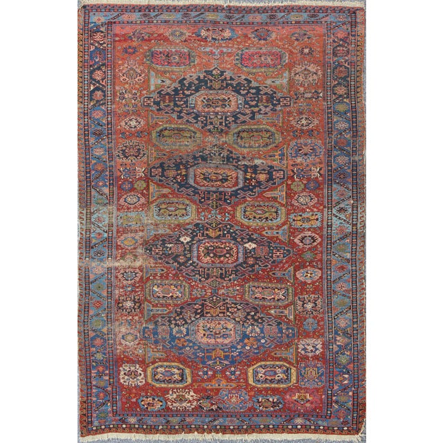 Textile Keivan Woven Arts, S12-0409, Late 19th Century Antique Caucasian Sumac Rug - 7′3″ × 10′8″ For Sale - Image 7 of 7