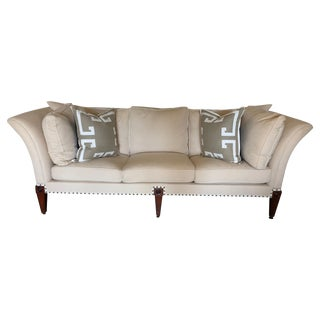 English Splayed Arm Sofa For Sale