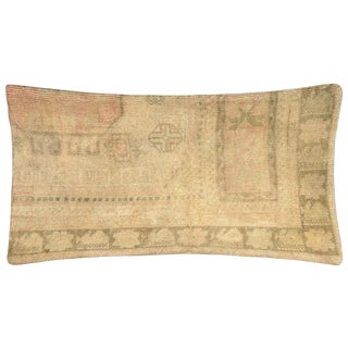 """1960s Turkish Oushak Pillow - 16"""" X 24"""" For Sale"""