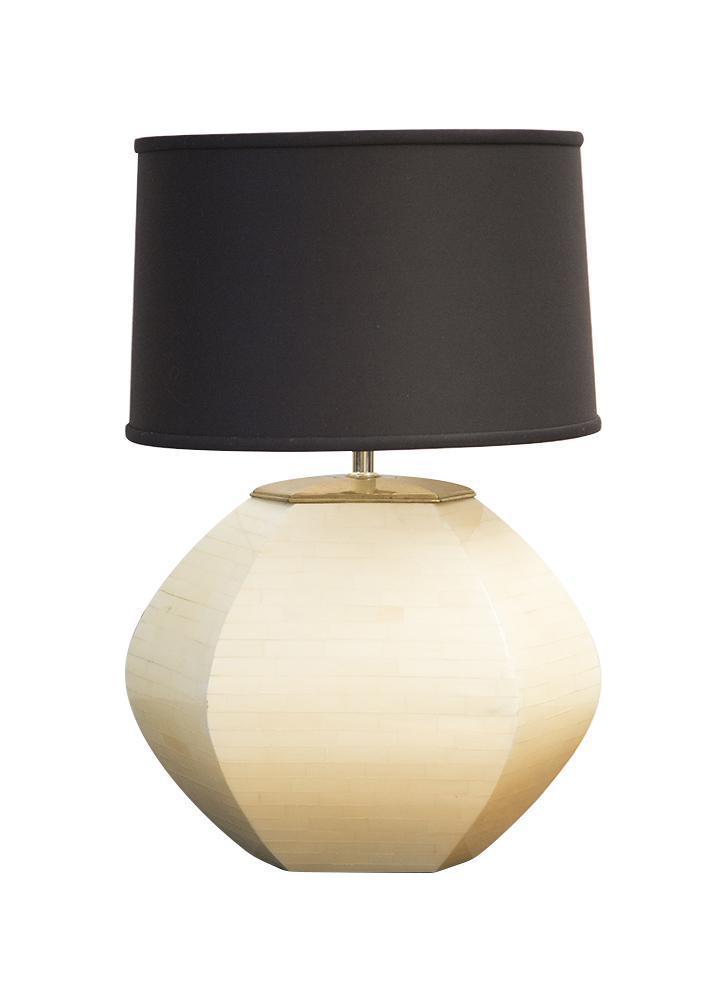 Enrique Garcel Bone Inlay Lamp