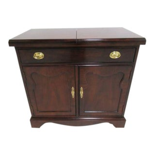 Thomasville Mahogany Flip Top Server Liqour Cabinet Bar Console