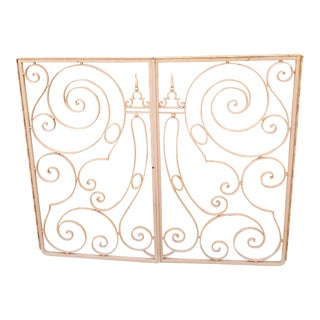 Pair of Painted Iron Window Gates For Sale