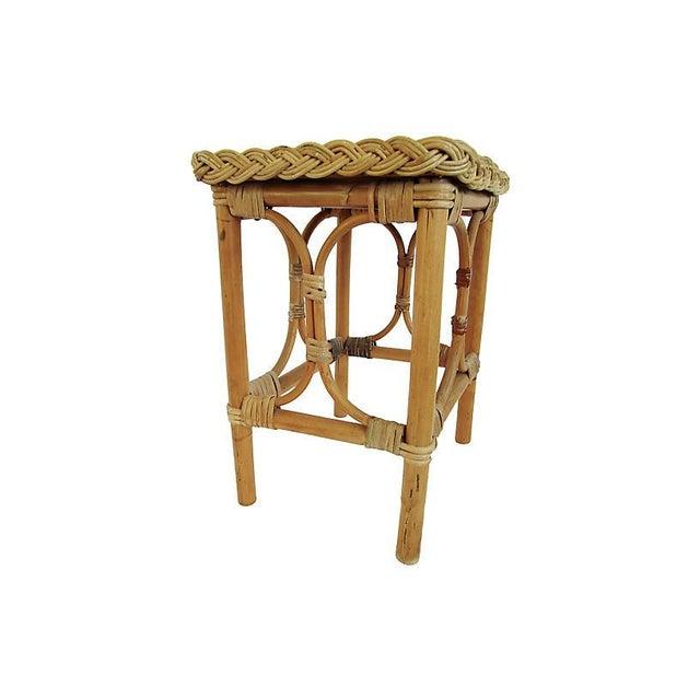 English English Rattan & Bamboo Side Table For Sale - Image 3 of 5