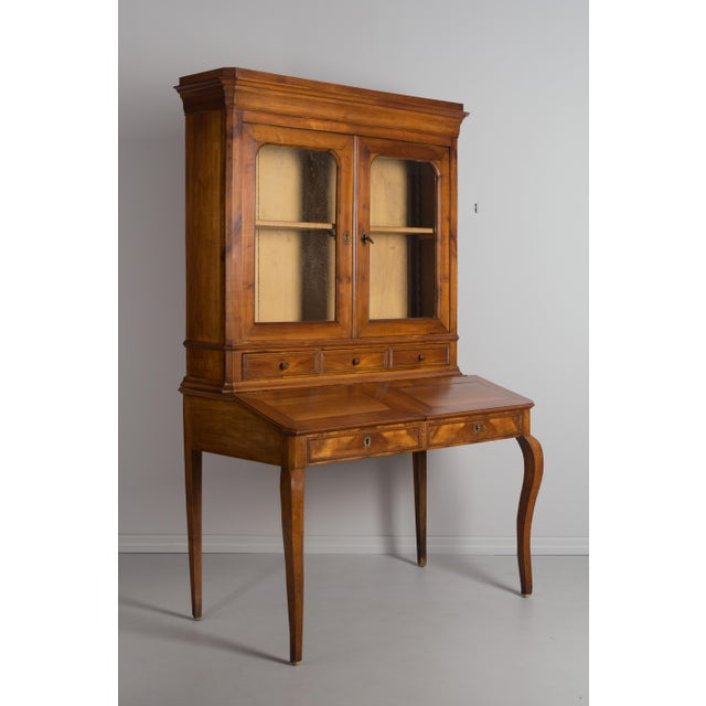 Late 19th Century Antique French Country Style Slant Top Desk For Sale - Image 9 of 11