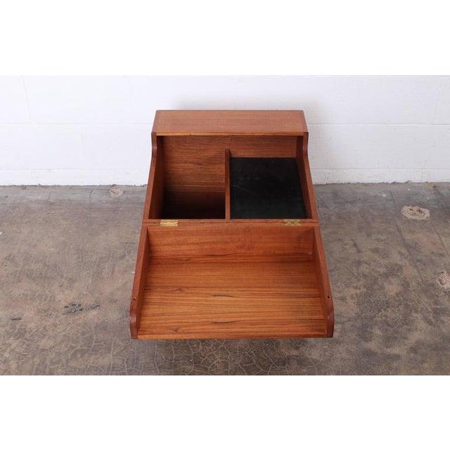 Brown Hans Wegner Teak Cube Bar For Sale - Image 8 of 10