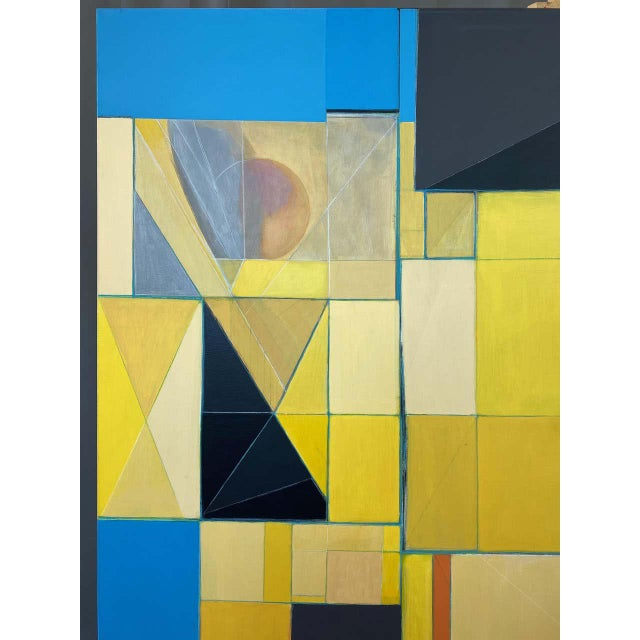"""Robert English """"Etheric Double"""", Large Abstract Cubist Painting, 1994-1995 For Sale - Image 10 of 13"""