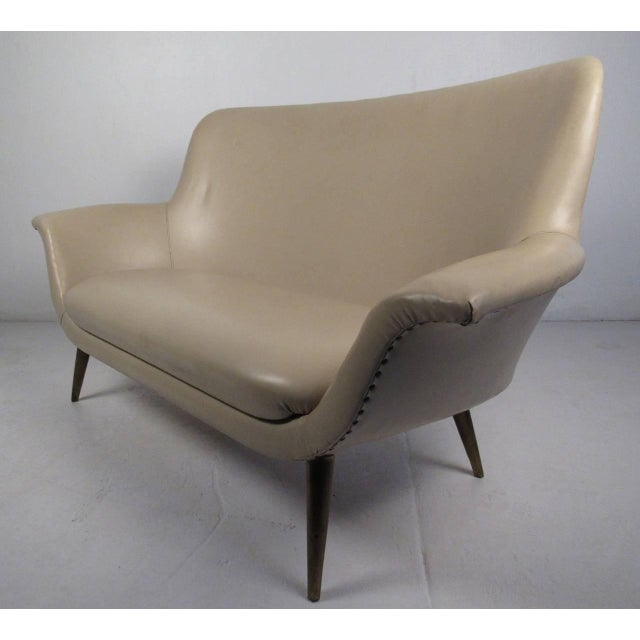 Abstract Mid-Century Modern Loveseat For Sale - Image 3 of 8