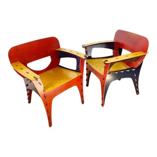 Pair of Puzzle Chairs by David Kawecki For Sale