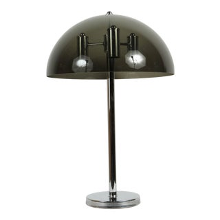 Lucite and Chrome Table Lamp For Sale