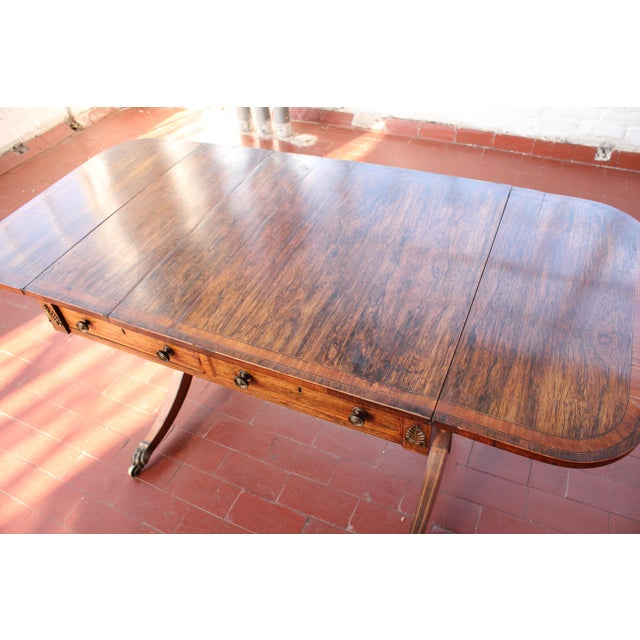 Late 19th Century Antique Victorian Rosewood Writer's Desk For Sale - Image 5 of 13