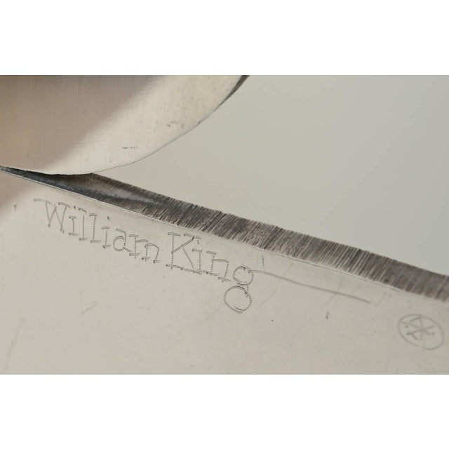 Modern Monumental Cut Sheet Aluminum Whimsical Floor Sculpture, Signed William King For Sale - Image 3 of 8