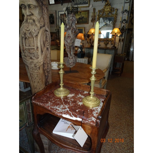 Brass Candle Holders, Pair For Sale - Image 9 of 10