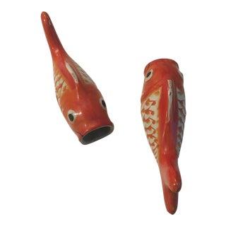 Porcelain Koi Wall Pockets - a Pair