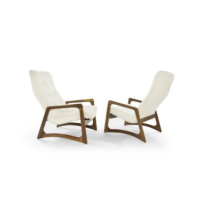 Adrian Pearsall Sculptural Walnut Lounge Chairs by Adrian Pearsall for Craft Associates - a Pair For Sale - Image 4 of 13