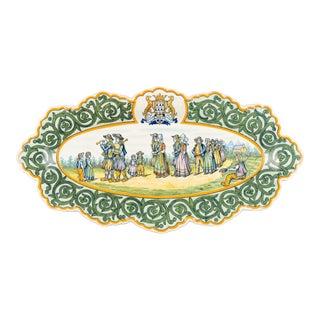 Henriot Quimper Faience Platter For Sale