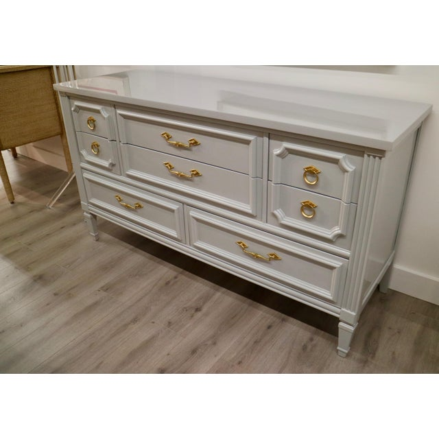 Vintage Grey Custom Lacquered Chest - Image 3 of 7